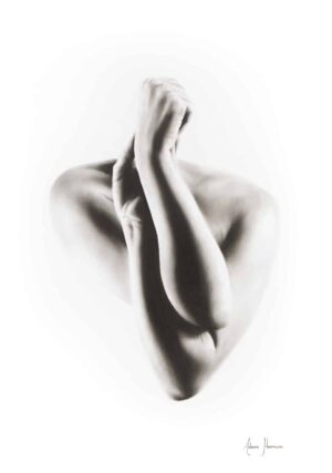 Ashvin Harrison Art- Nude Woman Charcoal Study 55