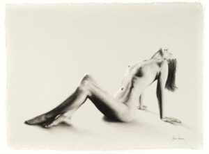 Ashvin Harrison Art- Nude Woman Charcoal Study 59