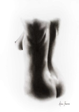 Ashvin Harrison Art- Nude Woman Charcoal Study 60