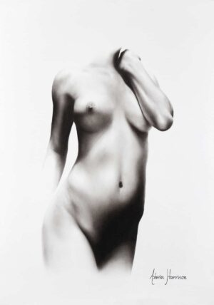 Ashvin Harrison Art- Nude Woman Charcoal Study 71