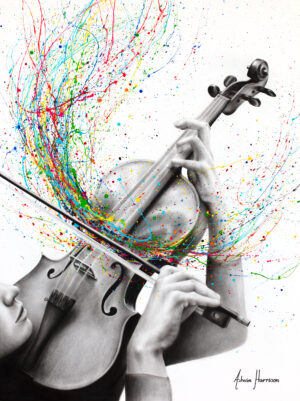 Ashvin Harrison Art- The Violin Solo